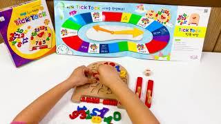 (틱톡) 원목 시계모형 시계공부 숫자 끼우기 장난감 유…