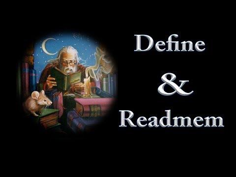 Learning Define and Readmem: Restoring Changing Bytes