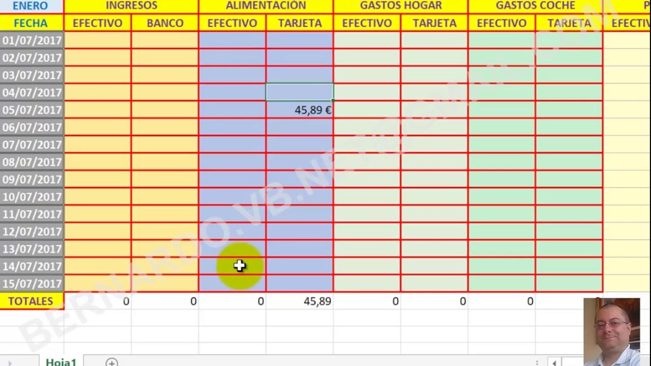 Como hacer contabilidad casera FACILISIMA con Excel 2013 - 2 ...