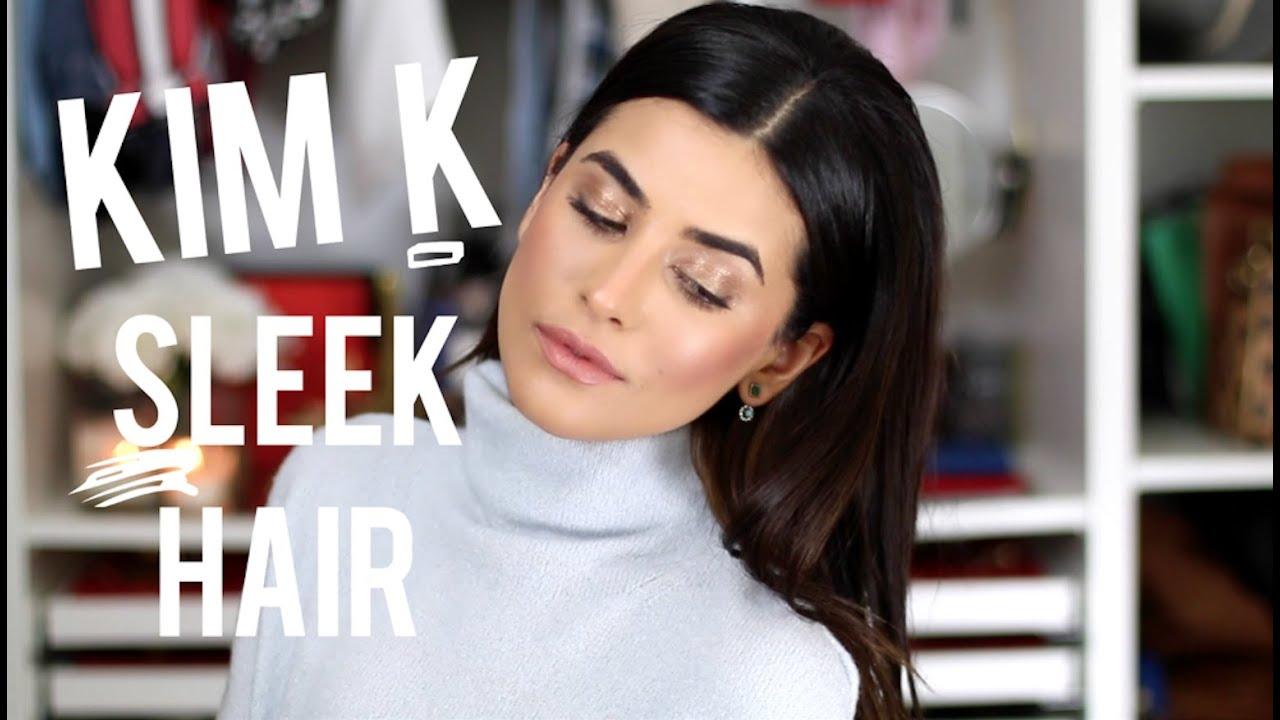 Kim Kardashian Sleek Hair Tutorial So Easy Youtube