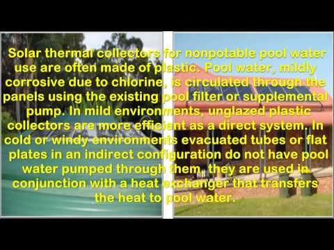 Wikipedia: Solar Water Heating: Heating of swimming pools
