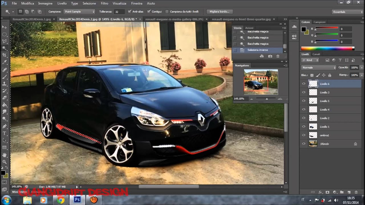 Renault Clio 2014 Denis Virtual Tuning Photoshop