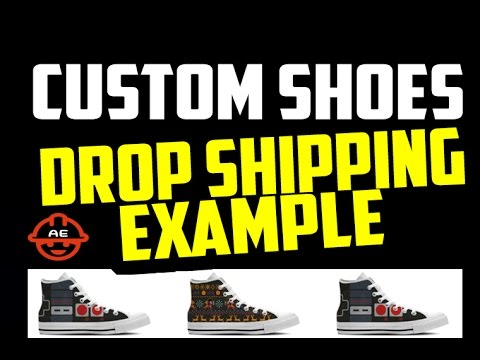Cool Printed Shoes Drop Shipping Example