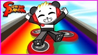 ROBLOX Box Slide down a Rainbow on Fidget Spinner! Let