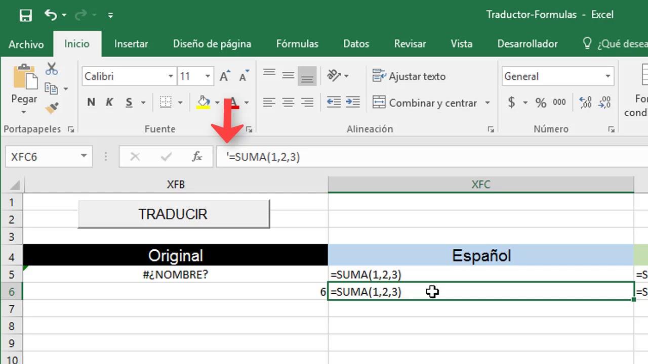 Traducir Fórmulas De Excel De Inglés A Español Youtube