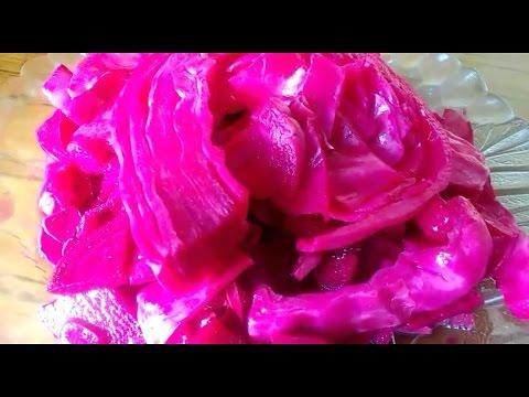 капуста с буряком маринованная вкусная видео