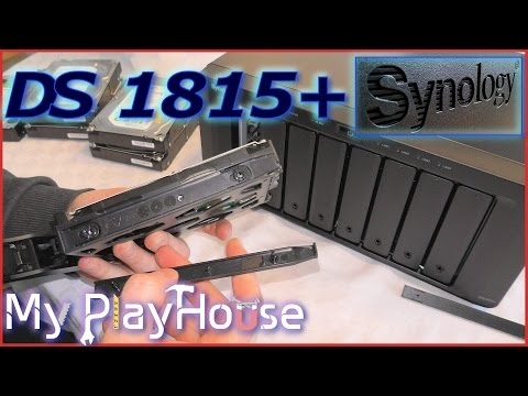 NEW Synology DS1815+ Unboxing and Powered UP - 333