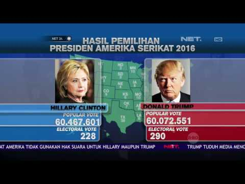 Grafis Hasil Pemilu Presiden Amerika Serikat 2016 - NET24