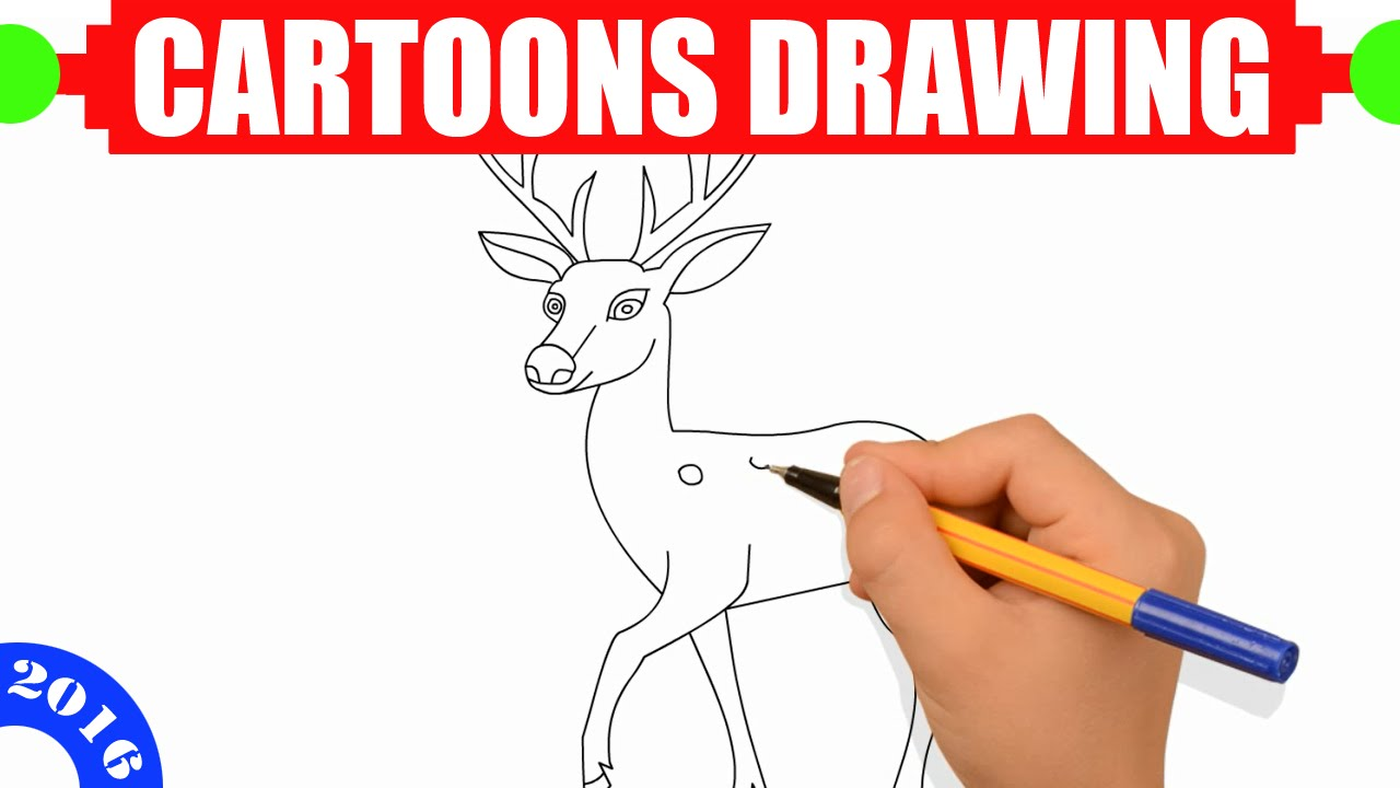 O Deer How to draw a deer EASY for kids in 2 MINUTES - Easy step by step drawing  for kids #9