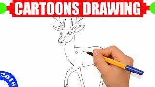 How to draw a deer EASY for kids in 2 MINUTES - Easy step by step drawing for kids #9
