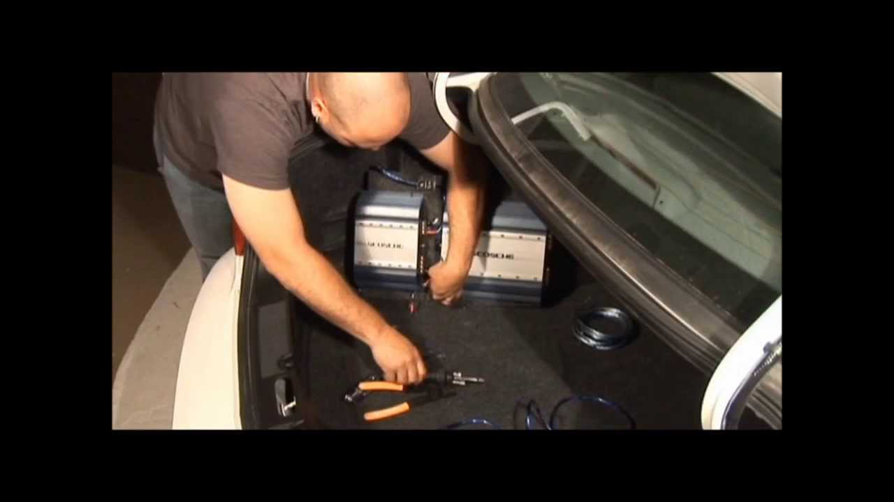 How To Install A Car Stereo Amplifier Gauge Amp Installation Power Wiring Kit Ofc Ebay