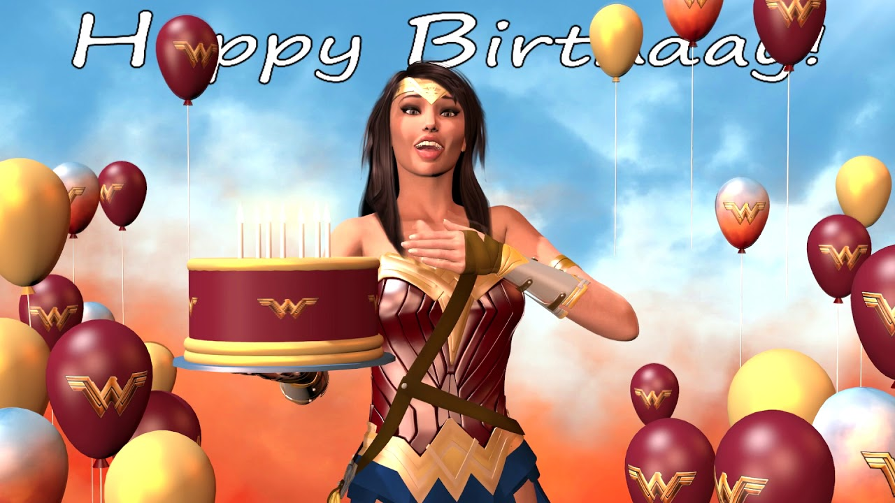 Wonder Woman Says Happy Birthday To You With Asl Youtube