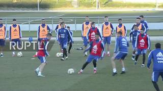 Spain: Messi Joins Argentina'S Training For First Time Since World Cup