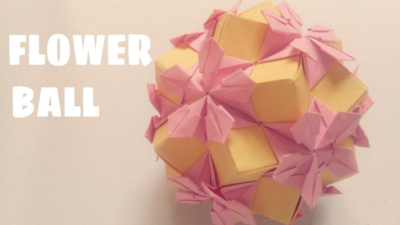 Origami flower ball kusudama tutorial origami handmade origami flower ball kusudama easy you dhlflorist Image collections
