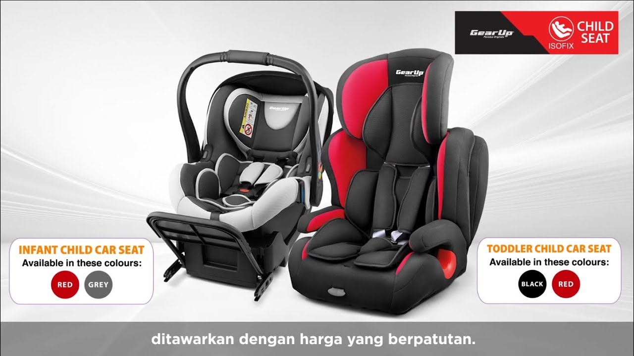 Perodua GearUp Isofix child seats - from RM660