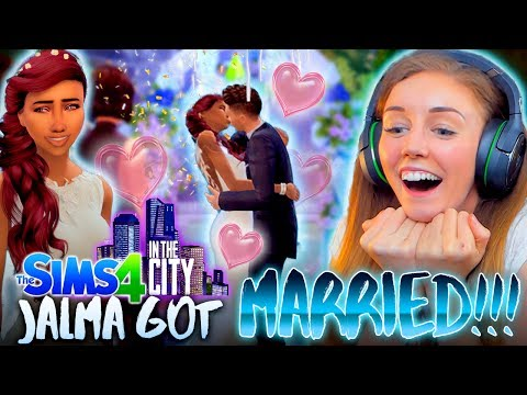 👰IT'S THE JALMA WEDDING!🎀(The Sims 4 IN THE CITY #7! 💒)