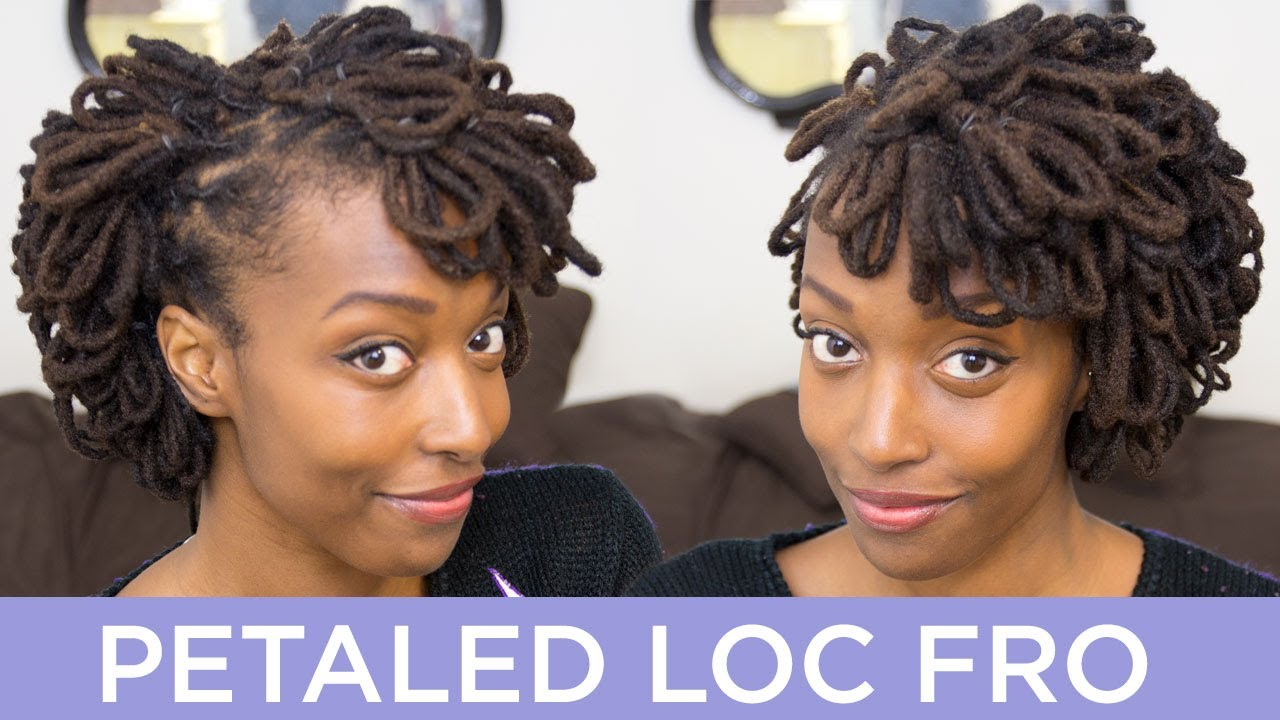 loc hairstyle tutorial: petaled loc fro - youtube