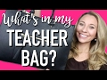 WHAT'S IN MY TEACHER BAG? | A Classroom Diva