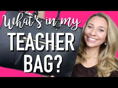 WHAT'S IN MY TEACHER BAG? | A Classroom Diva