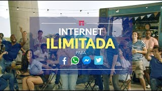 TIM PRÉ TOP Internet ILIMITADA para: Facebook, WhatsApp, Messenger e Twitter