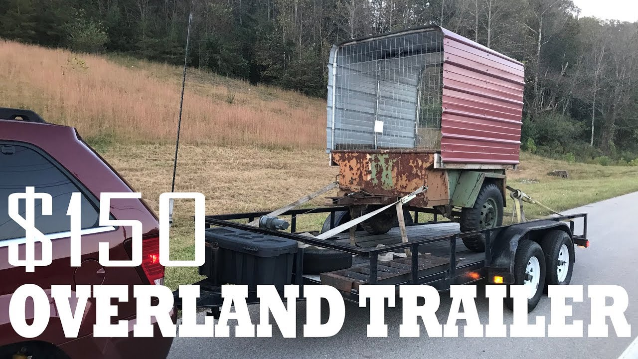 $150 M416 military trailer - Overland Trailer Ep1