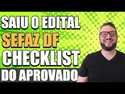 🚀  Concurso  SEFAZ DF 2019 - Como passar mais rapidamente  (checklist do aprovado)