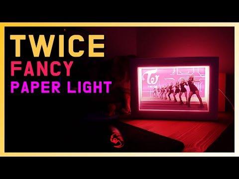 DIY make a twice paper light box