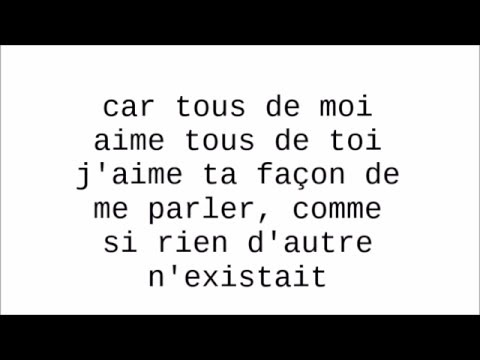 karaoké all of me en francais