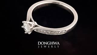 러블리 결혼예물트렌드 3부다이아몬드반지 세트 목걸이 귀…