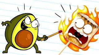 Real Life Doodles vs Evil Vegetables