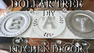 DOLLAR TREE DIY BLING GLITTER LETTERS | KITCHEN DECOR | PETALISBLESS🌹