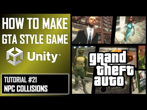 How To Make A GTA Game For FREE Unity Tutorial 021 - NPC COLLISION DETECTION thumbnail