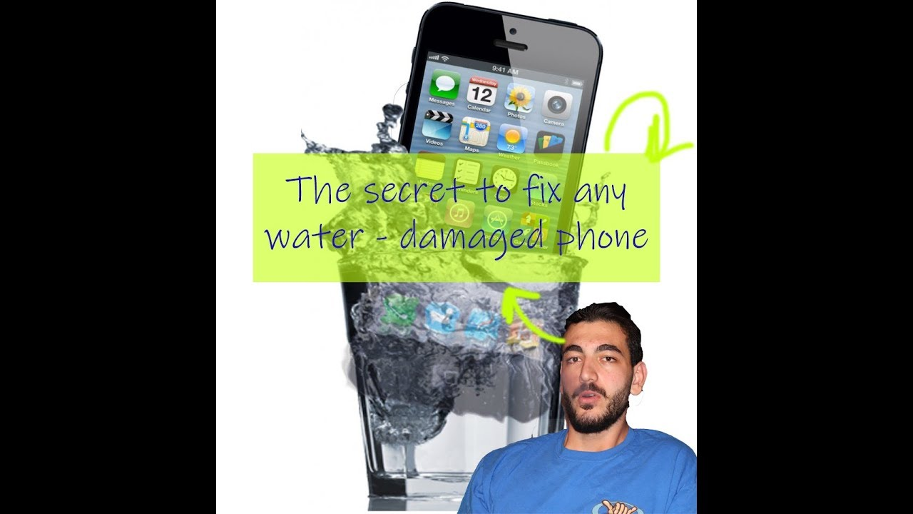 how to make phone work after dropping in water