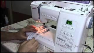 Авто петля на швейной машинке Janome QC2325.Часть8.Видео №15.