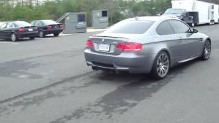 bmw m3 e92 full exhaust straight pipes mufflers loud
