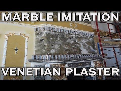 Имитация Мрамора На Камине | Emperador из Creama Bianco Stucco Veneziano Wowcolor | Venetian Plaster
