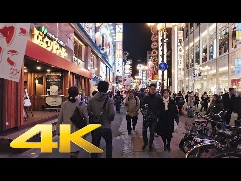 Walking around Dotonbori, Osaka Minami by night - Long Take【大阪・道頓堀 /ミナミ】 4K