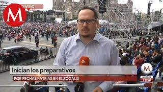 Afinan últimos preparativos para Grito de Independencia en Zócalo