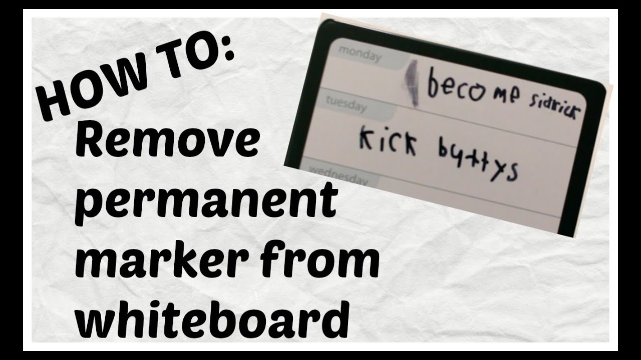how to remove permanent marker from dry erase board easy whiteboard vs sharpie youtube. Black Bedroom Furniture Sets. Home Design Ideas