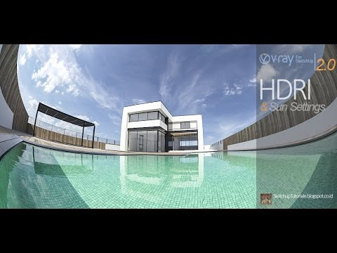 HDRI and sun settings in vray for sketchup 2 0