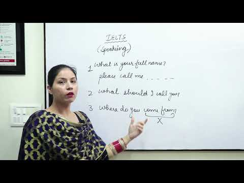 IELTS Speaking Introduction (Part-1)