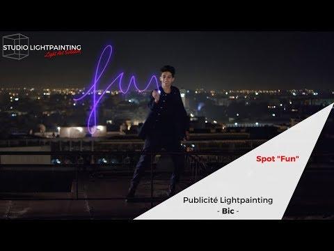"Publicité Lightpainting Bic Cristal Fashion ""Fun"" VF"