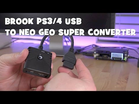 Brook PS3/PS4 USB to Neo Geo Super Converter- Reviewed!!