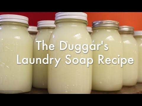 The Duggar's Laundry Soap Recipe & How-To
