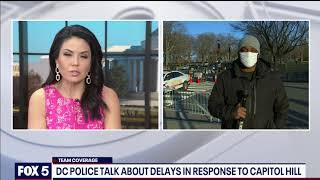 DC police explain delay in action while responding to pro-Trump rioters at U.S. Capitol | FOX 5 DC