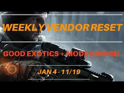 The Division - Weekly Vendor Reset Jan 4 - 11/19