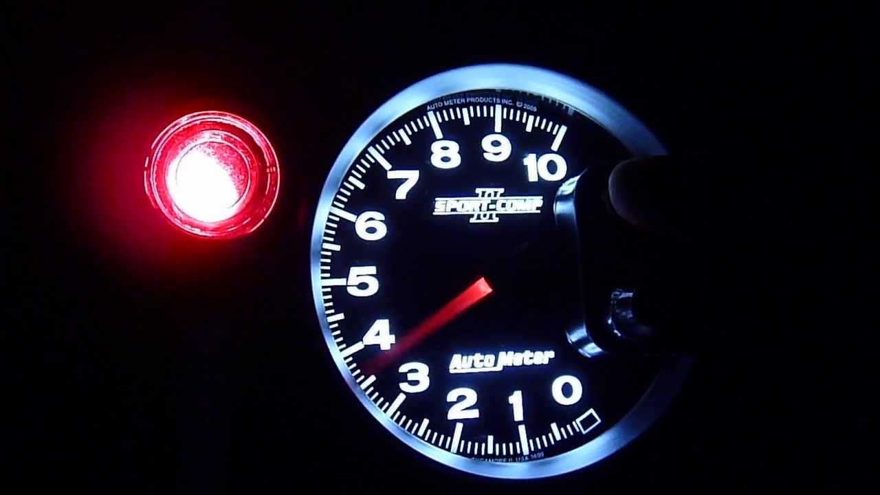autometer sport comp ii shift light youtube rh youtube com