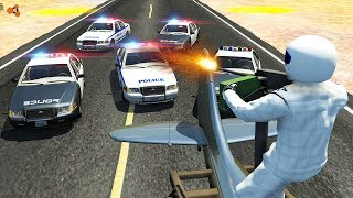 Beamng Drive - Police Chase Machine Gun vs Bandits #3
