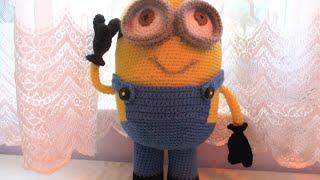 Amigurumi Minion part 3 eyes tutorial crochet