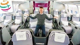 Eurowings BIZclass von New York nach Düsseldorf A330-300 | GlobalTraveler.TV